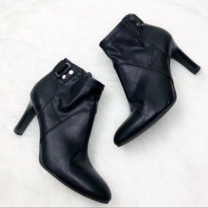 Franco Sarto Black Heeled Booties Size 6.5